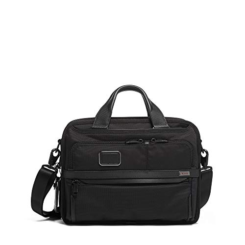 TUMI – Alpha 3 Small Screen Expandable Laptop Brief Briefcase – 13 Inch Computer Bag for Men and Women – Black
