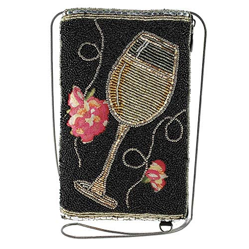 Mary Frances Wine Not Beaded Crossbody Phone Bag Purse, Multi