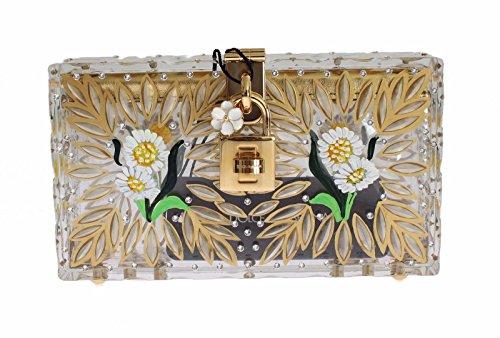 Dolce & Gabbana – Purse BOX Plexi Flower Hand Painted Da Sera Clutch