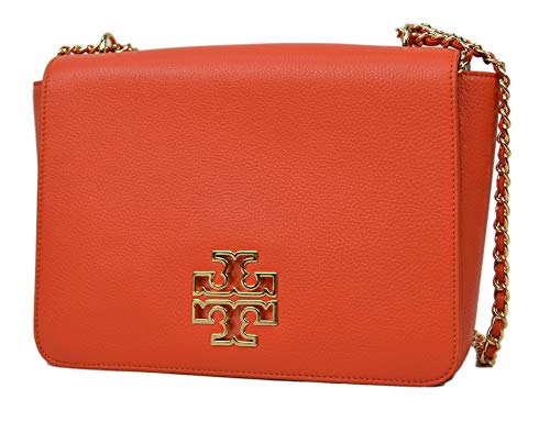 Tory Burch Women's Britten Large Adjustable Shoulder Bag, Spiced Orange