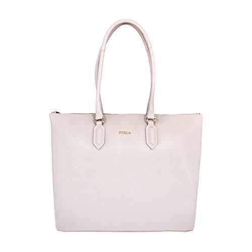 Furla Pin Ladies Medium White Perla Leather Tote 978768