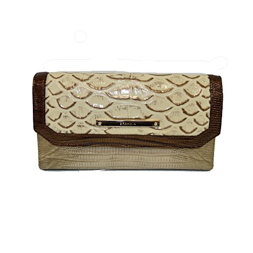Brahmin Soft Checkbook wallet clutch Ray Artemisa Leather