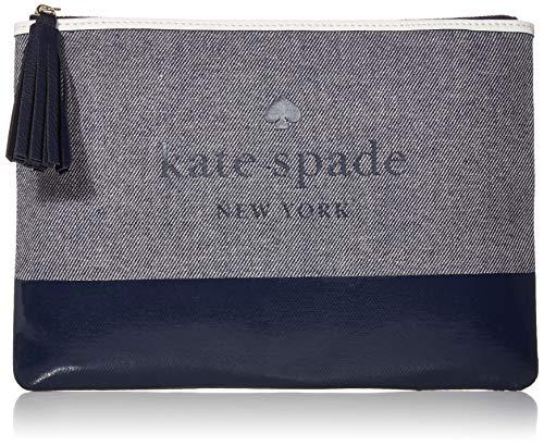 Kate Spade Ash Street Logo Large Tassel Pouch/Clutch, Blazer Blue, One Size