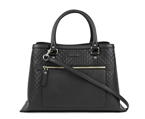 Gucci Women's Black Guccissima Leather Medium Shoulder Bag 510291 1000