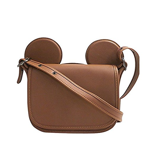 COACH PATRICIA SADDLE IN GLOVE CALF LEATHER WITH MICKEY EARS F59369 ANTIQUE NICKEL/SADDLE