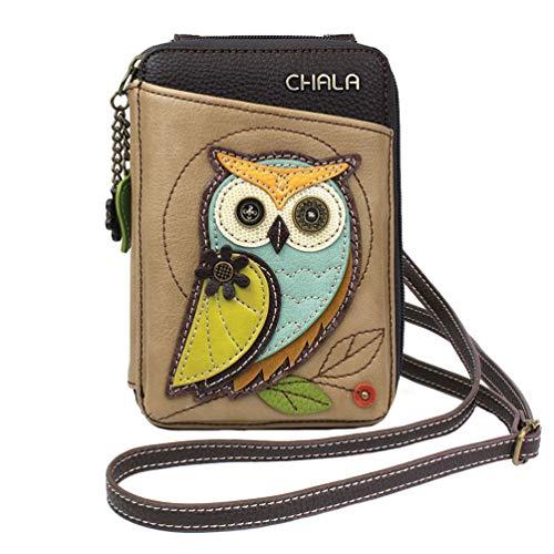 Chala Handbags Owl Wallet Crossbody Handbag – Convertable Strap