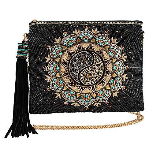 Mary Frances Harmony, Beaded Yin-Yang Crossbody Handbag