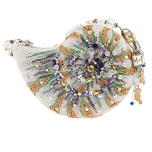 Mary Frances Disney Little Mermaid Beaded Sea Shell Top Handle Bag Purse, Multi