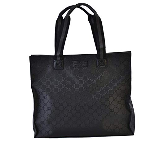 Gucci Unisex Black GG Nylon Canvas Web Viaggio Collection Tote Bag 449178