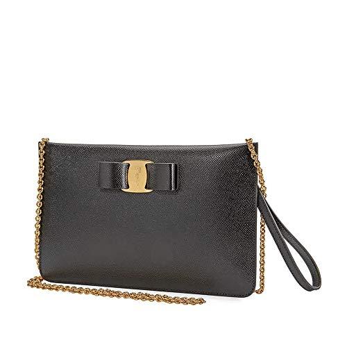 Ferragamo Vara Bow Mini Bag Black 22D720 717000