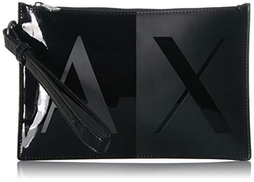 A|X Armani Exchange Two Tone Pouch, black