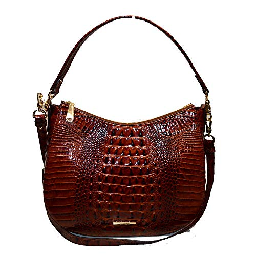 Brahmin Daphne Croco emb Leather bag/Xbody Pecan Melbourne