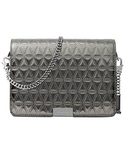 Michael Kors Jade Medium Gusset Clutch Handbag in Gunmetal