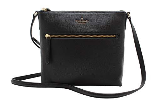 Kate Spade NY Jackson Top Zip Crossbody Leather Purse in Black