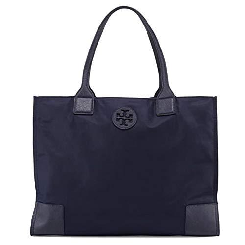 Tory Burch ella tote 55528 16″ nylon (Navy Blue)