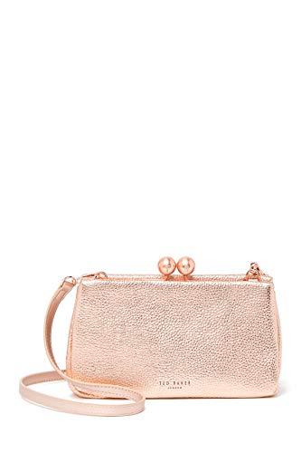Ted Baker London Chrina Leather Crossbody Bag Rose Gold