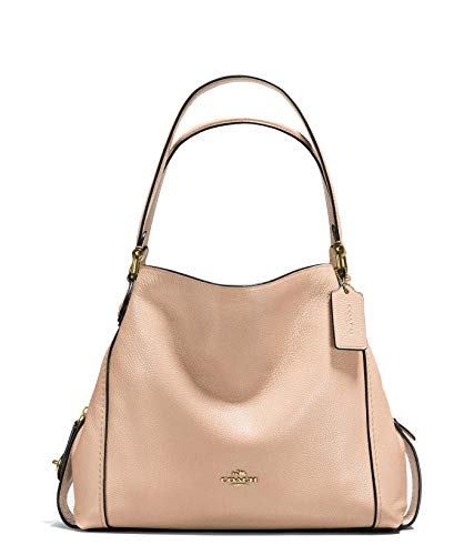 Coach Edie 31 shoulder bag Leather Handbag Beachwood Light Tan Bag New