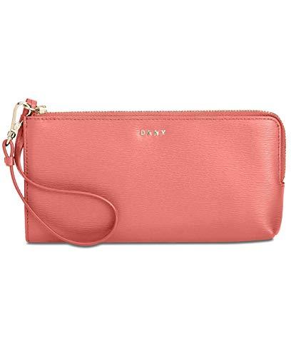 DKNY Bryant Zip Wristlet Pouch – Coral