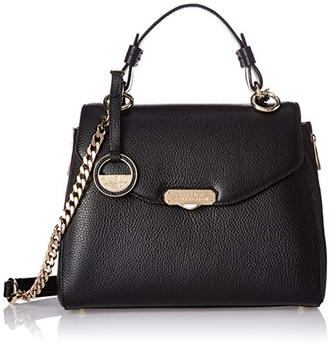 Versace Collection Satchel with Gold Hardware, Black