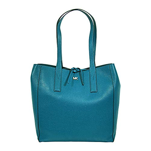 Michael Kors Junie Large Leather Tote – Luxe Teal