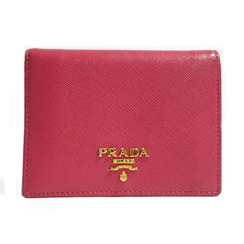 Prada Portafoglio Verticale Fuxia Geranio Vitello Move Leather Flap Wallet 1MV204