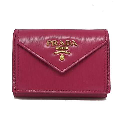 Prada Portafoglio Pattina Pink Ibisco Vitello Move Leather Wallet 1MH021