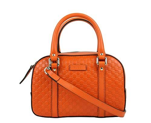 Gucci Women's Orange Guccissima Leather Small Crossbody Bag 510289 7527