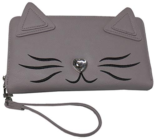 Betsey Johnson Wristlet/Wallet Gray Multicolorcolor