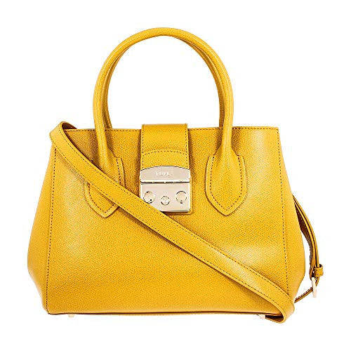 Furla Metropolis Ladies Small Yellow Ginestra Leather Tote 978095
