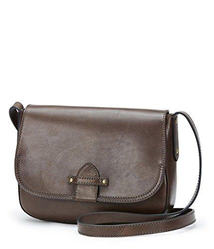 FRYE Casey Crossbody Leather Bag Purse Charcoal