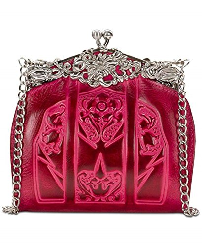 Patricia Nash Burnished Tooled Rosaria Frame Clutch – Pink