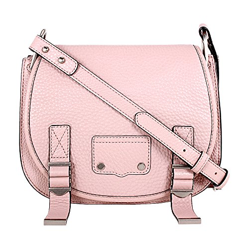 Rebecca Minkoff Ladies Small Pink Leather Saddle Bag HF17FMDL28