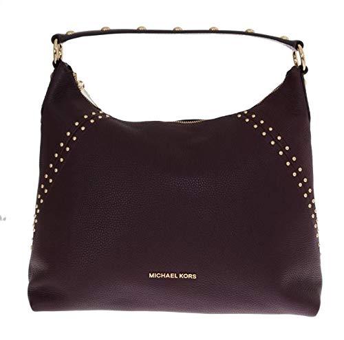 Michael Kors Bordeaux Aria Leather Shoulder Bag