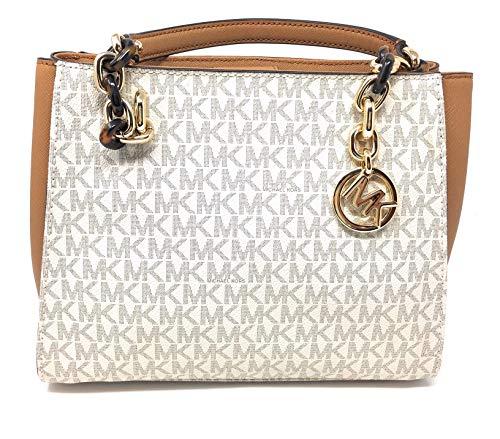 Michael Michael Kors Sofia Vanilla Acorn MK Signature Medium Tote Bag