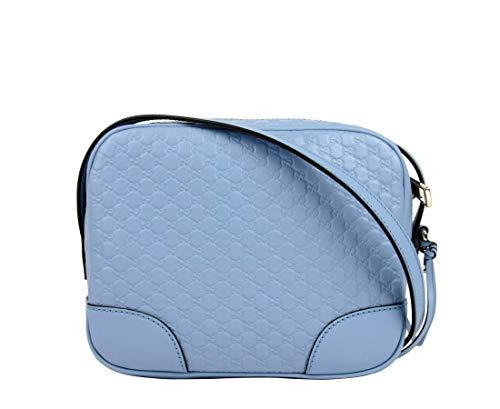 Gucci Light Blue Guccissima Leather Micro Camera Bag 449413 4503