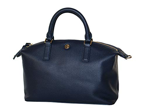 Tory Burch Women's Brody Small Slouchy Satchel Leather Handbag 52909 (Royal Navy)