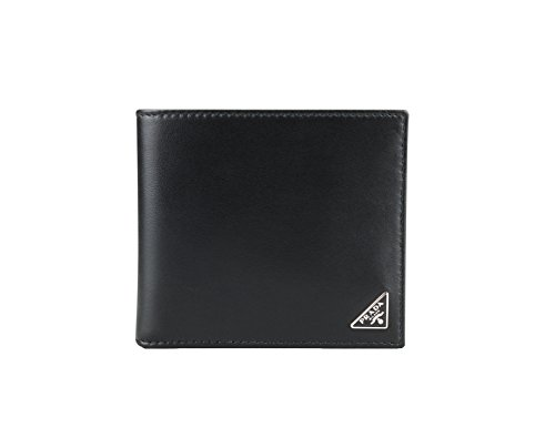 Prada Vitello Calfskin Leather Bifold Wallet, Black (Nero)