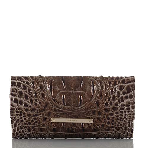 Brahmin Soft Checkbook Wallet, bark