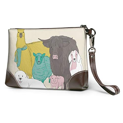 Farm Animals Canvas Makeup Bag Pouch Purse Handbag Organizer with Zipper