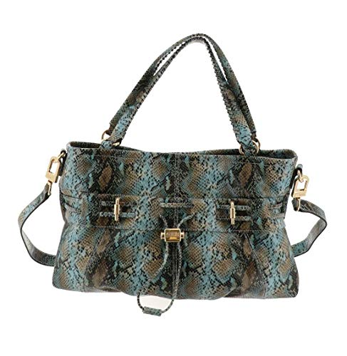 Aimee Kestenberg Leather Convertible Shopper-Westpor Mint Snake New A288986