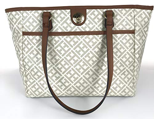 Tommy Hilfiger Women's Beige Signature Shoulder Bag