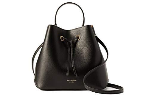 Kate Spade NY Eva Large Leather Bucket Crossbody Purse – Black