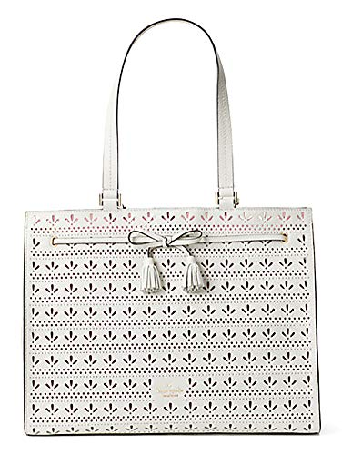 kate spade new york hayes perforated leather shoulder tote