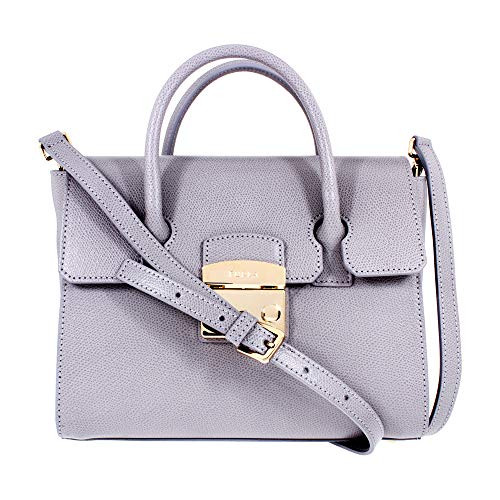 Furla Metropolis Ladies Small Gray Onice Leather Satchel 978185