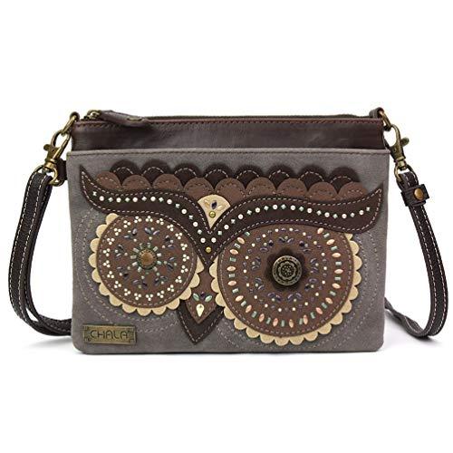 Chala Handbags Owl Dazzled Mini Crossbody Handbag
