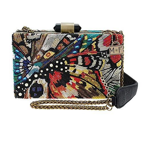 Mary Frances Modern Butterfly Beaded Crossbody Handbag