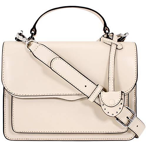 Rebecca Minkoff Top Handle Ladies Medium Antique White Leather Crossbody Bag HF17ECZD22-101