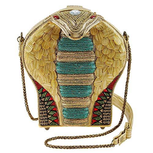 Mary Frances Mesmerize Embellished 3-D Cobra Crossbody Handbag