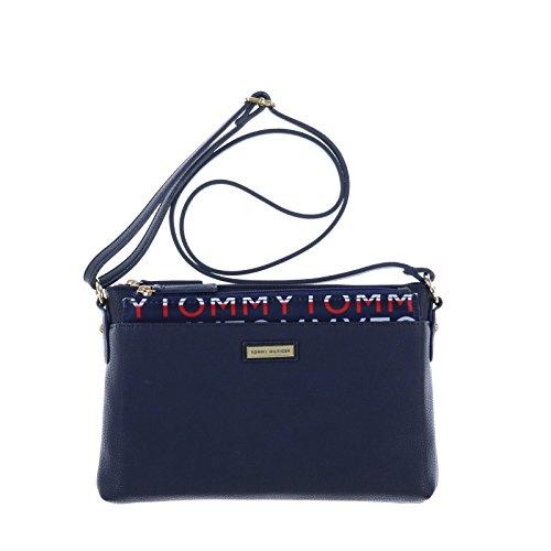 Tommy Hilfiger Crossbody Purse with Removable Pouch in Navy Blue