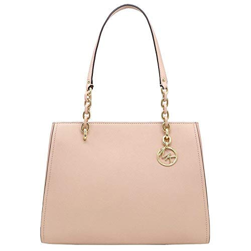 MICHAEL KORS SAFFIANO LEATHER SOFIA LARGE TOTE BAG IN BALLET